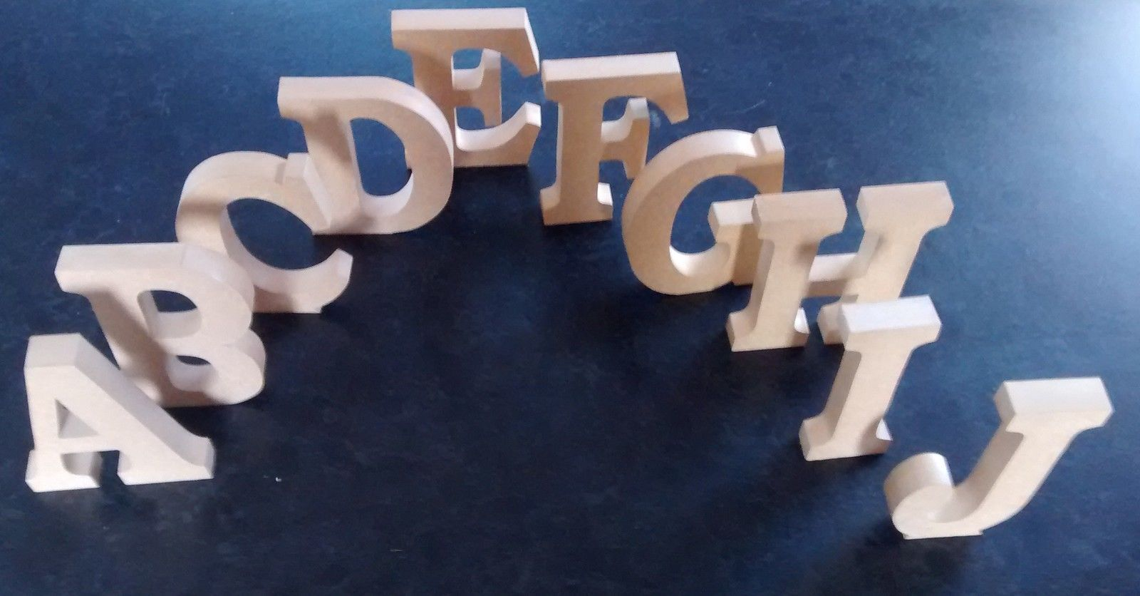 Free standing wooden letters home decor name large mdf for Large freestanding wooden letters