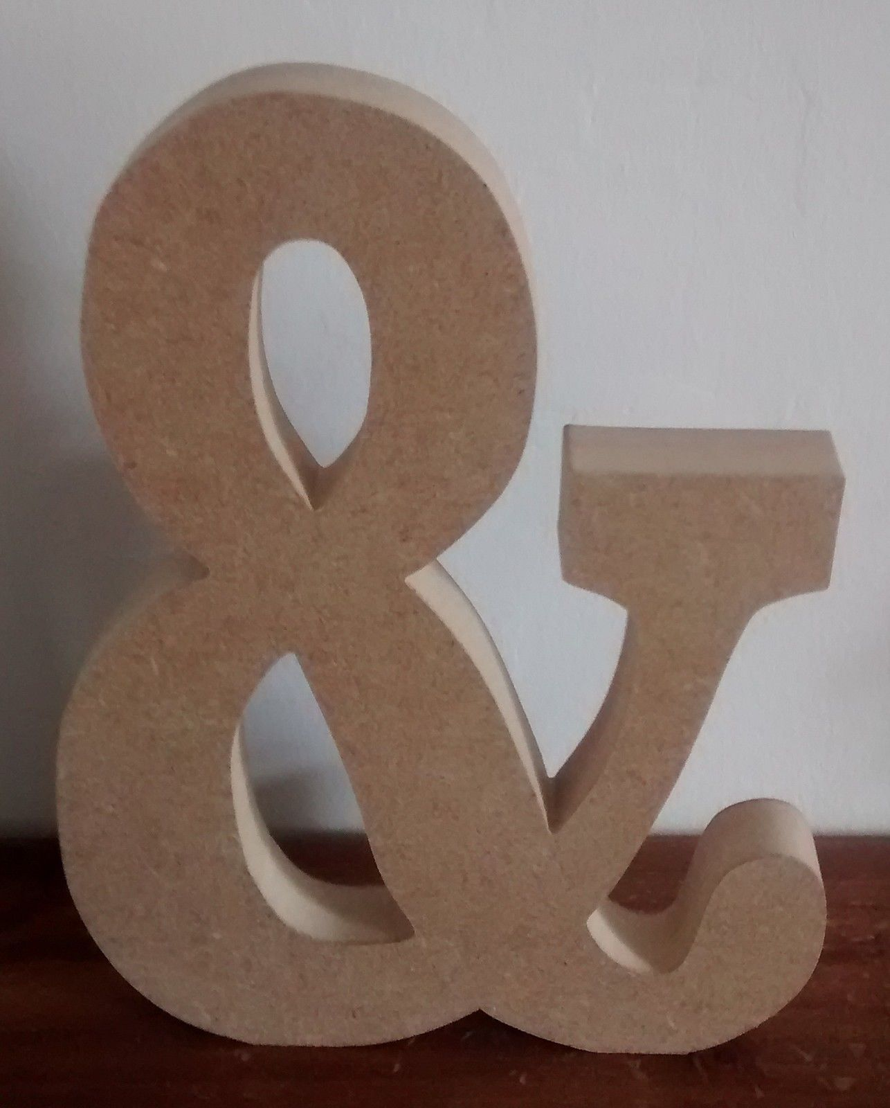 Free standing wooden letters home decor name large mdf for Big wooden letter b