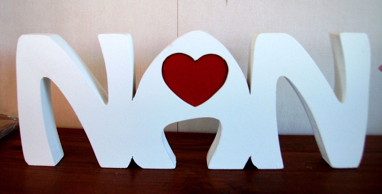 NAN Freestanding Wooden Plaque Mothers Day Birthday Gift